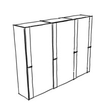 Structure for sliding doors wardrobe from Player collection