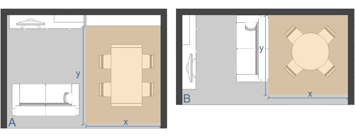 Forma dimensioni e posizionamento di un tavolo arredaclick for La forma tavoli