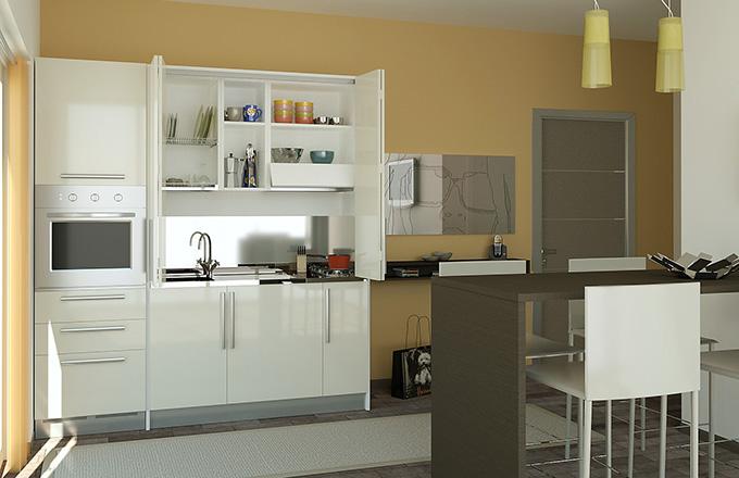 cucine monoblocco e cucine a scomparsa - arredaclick - Cucine Compatte Design