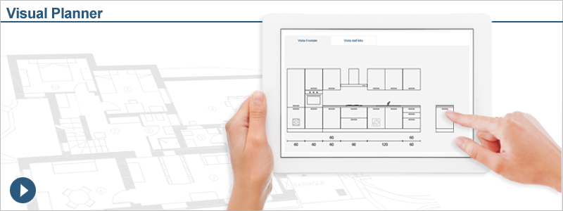 Progetta la tua cucina componibile arredaclick for Disegnare cucina on line
