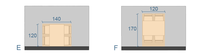 Dimensioni Tavolo Quadrato Per 4 Persone.Forma Dimensioni E Posizionamento Di Un Tavolo Diotti Com