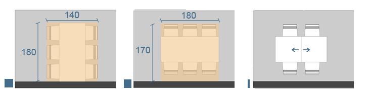 Forma, dimensioni e posizionamento di un tavolo - DIOTTI.COM