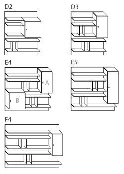 Schienale con pensili battenti Krea H.128 - ARREDACLICK