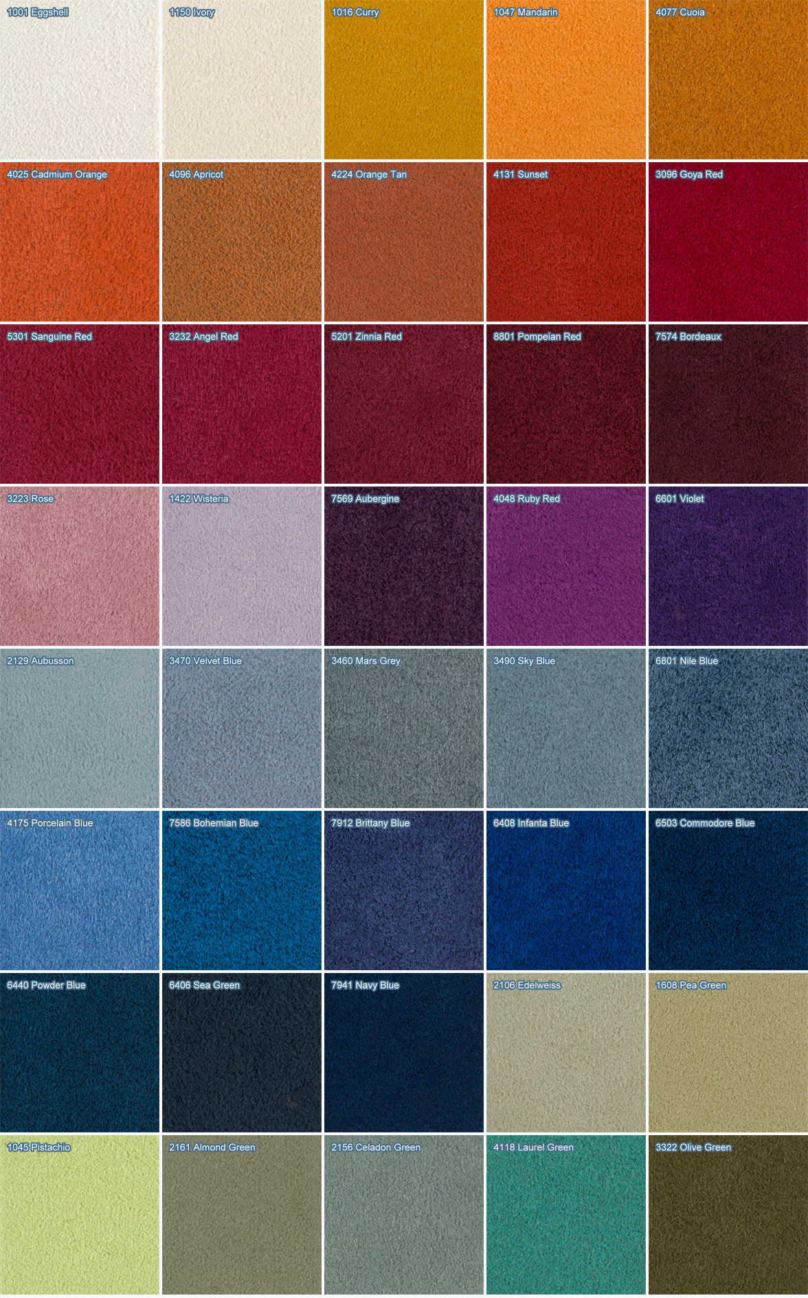 Tessuto alcantara sanotint light tabella colori - Tingere tessuti divano ...