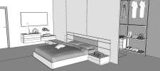 progettazione camera da letto - progettazione 3d - arredaclick - Progettazione Camera Da Letto