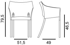 Chaise d\'extérieur Dr. No par Kartell dessinée par Philippe Starck ...