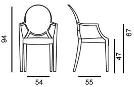 Louis Ghost Stuhl von Kartell entworfen von Philippe Starck ...