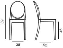 Victoria Ghost Stuhl von Kartell entworfen von Philippe Starck ...