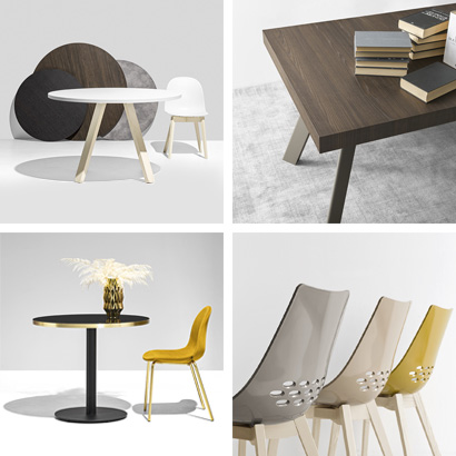 Modern tables and chairs by Connubia
