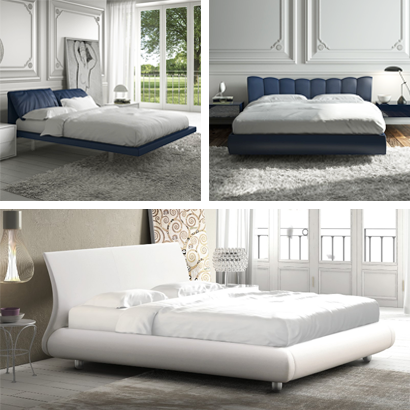 Handcrafted upholstered double beds