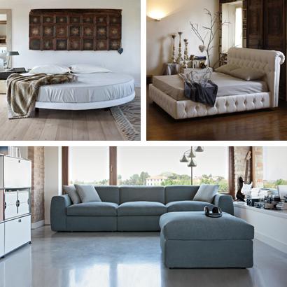 Letti imbottiti, divani trasformabili e divani made in Italy