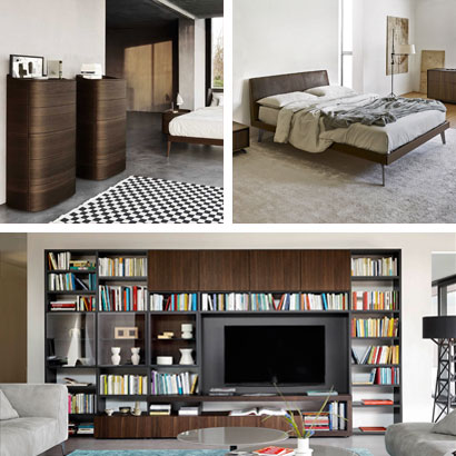 Modular furniture items for the living and the night area