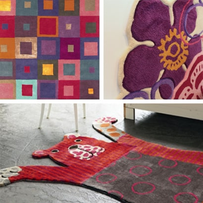 Modern patterned rugs for living rooms and bedrooms
