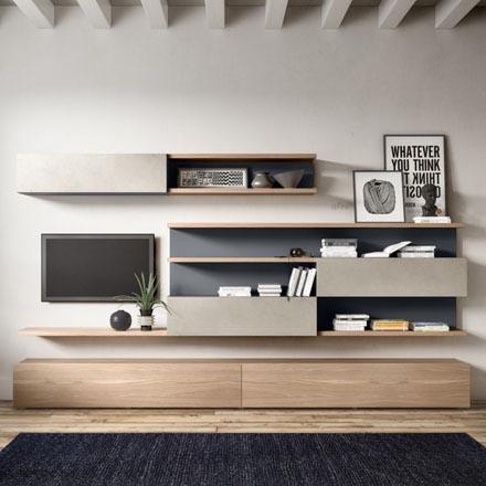 Mobili soggiorno arredaclick for Mobili pareti attrezzate moderne