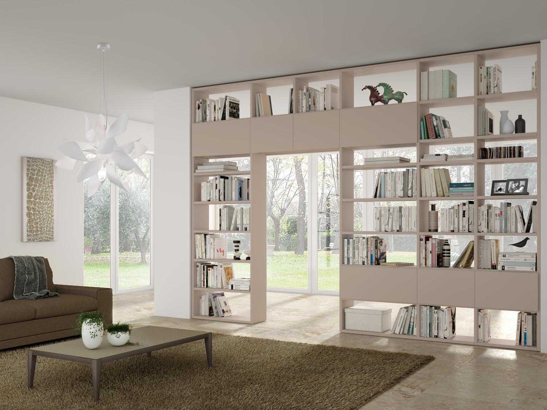 Librerie Componibili A Ponte.Libreria Componibile Bifacciale Almond P 45 6 Diotti Com