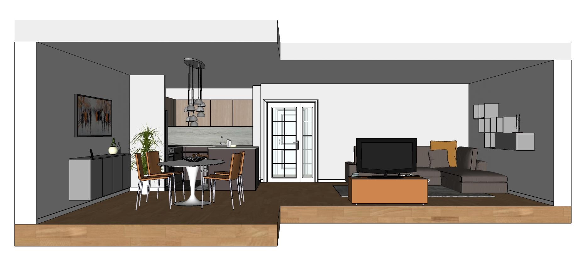 Cucina Open Space Moderna 3107 open space