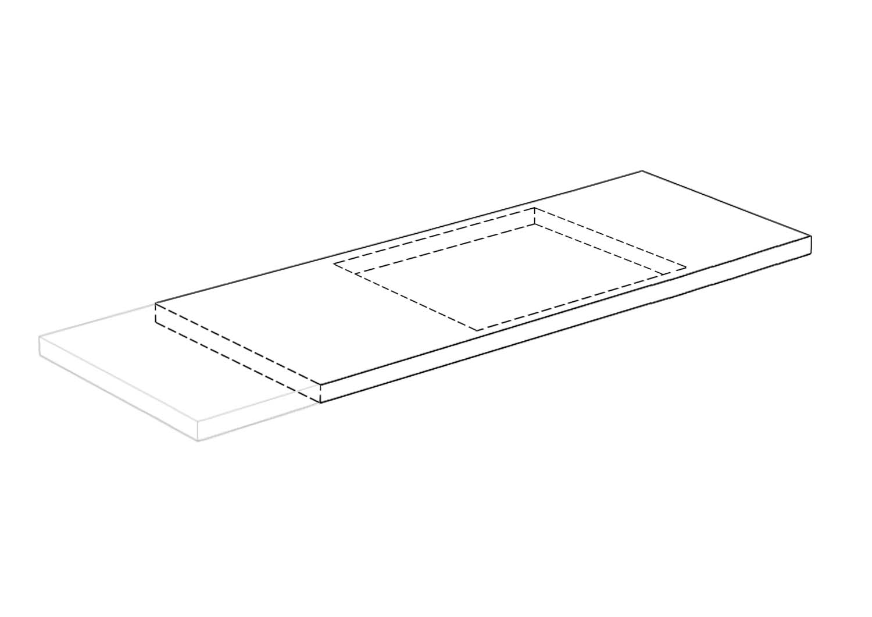 Piano Top Cucina Lineare p.60 - Larghezza da 721 a 740 cm