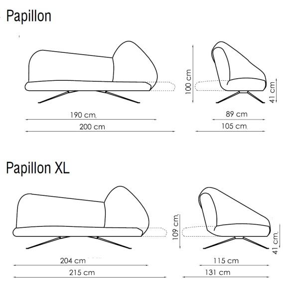 Divano letto bianco Papillon di Bonaldo - DIOTTI.COM