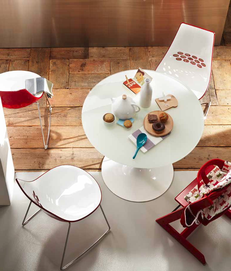 Tavolo Planet Calligaris Bianco.Planet Round Table By Calligaris Diotti Com