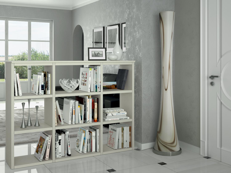 Libreria bifacciale laccata almond p arredaclick