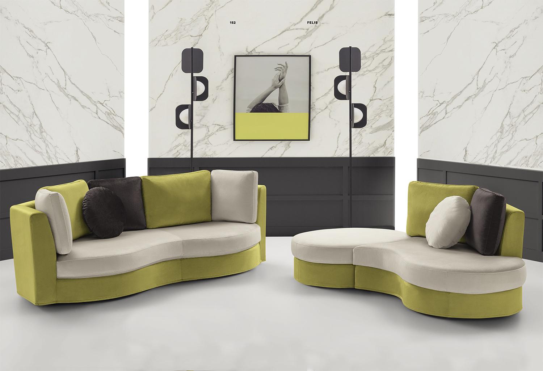 Divano letto angolare curvo: gallery of divano greta design bruline