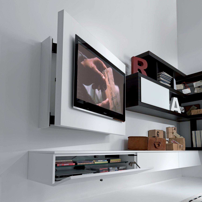 Rack Tv Mobel Hangend Schwenkbar Und Zu Offnen Diotti Com