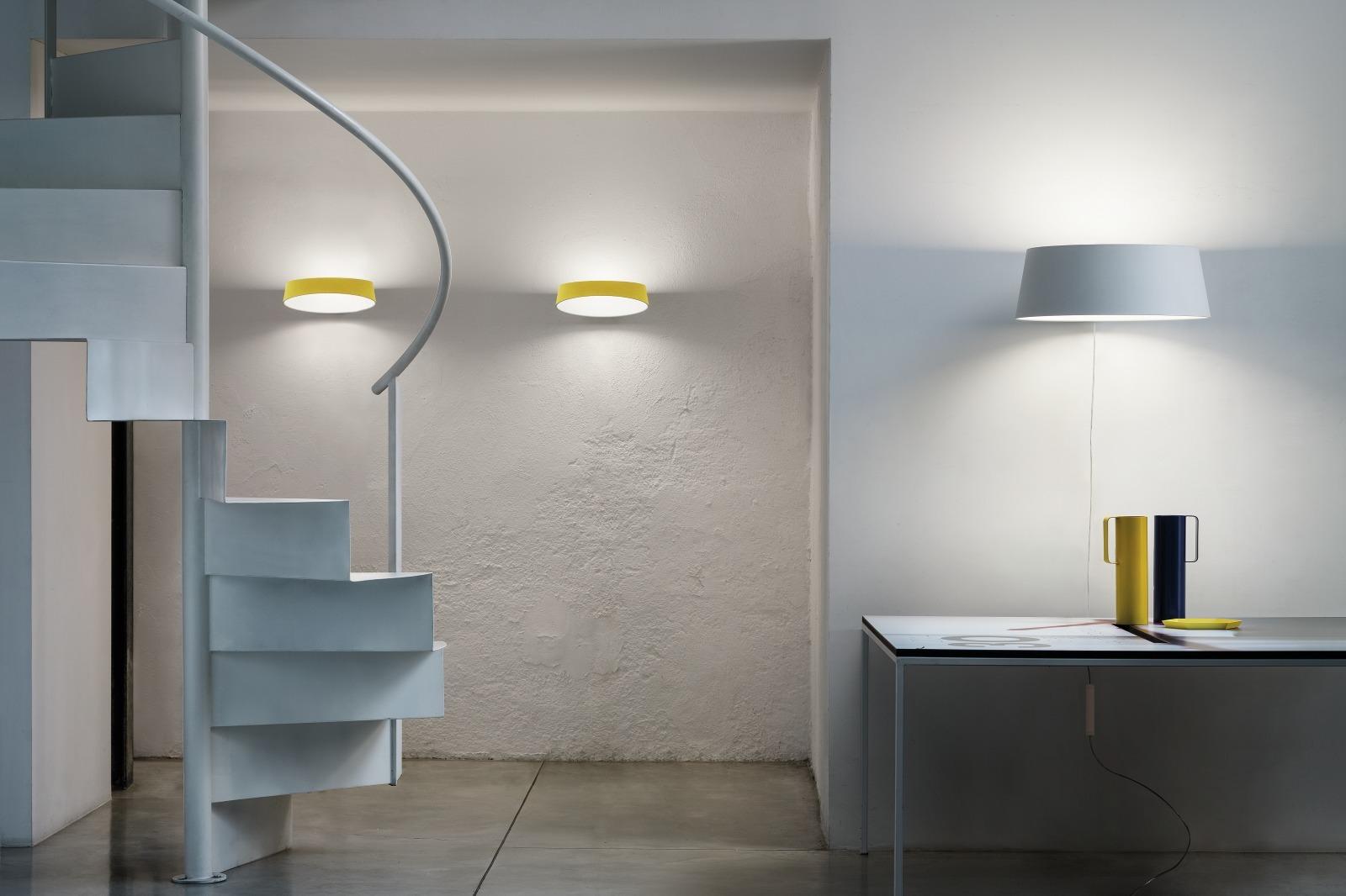 Lampada a led di design con paralume circolare oxygen di linea