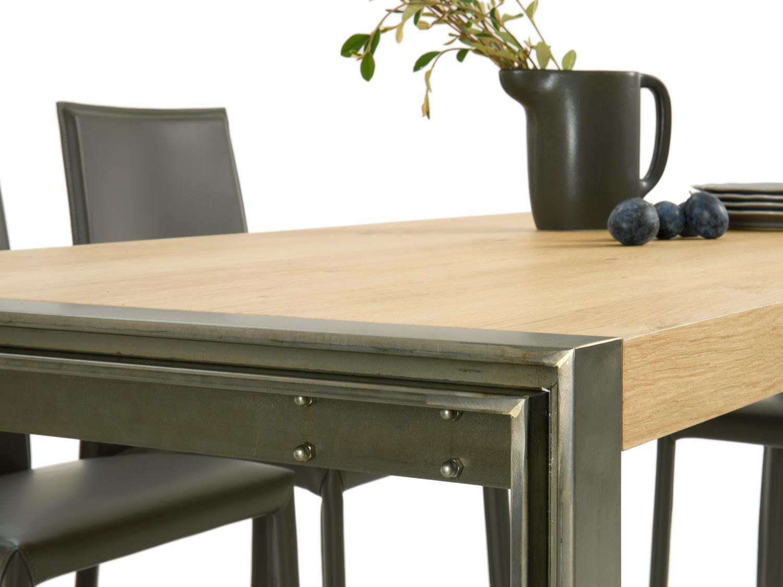 Tavolo Industriale Quadrato : Tavolo in legno stile metropolitano gary diotti