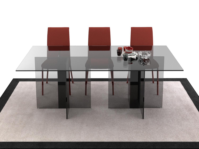 Tavolo Cristallo In Vetro.Erin Entirely Glass Made Table Diotti Com