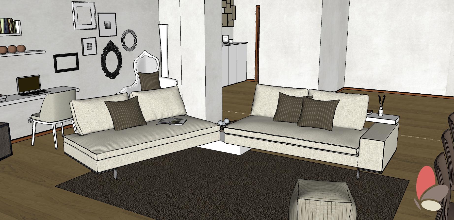 Posizione Divano E Tv 1854 soggiorno/salotto