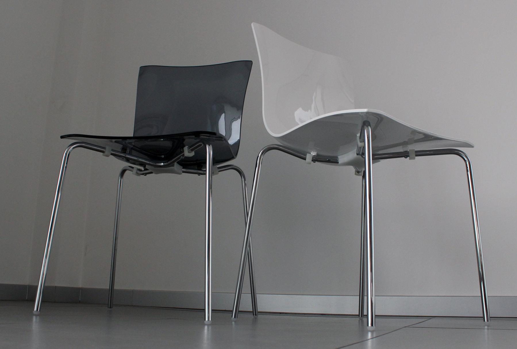 Sedia impilabile in plastica e metallo aria easy arredaclick
