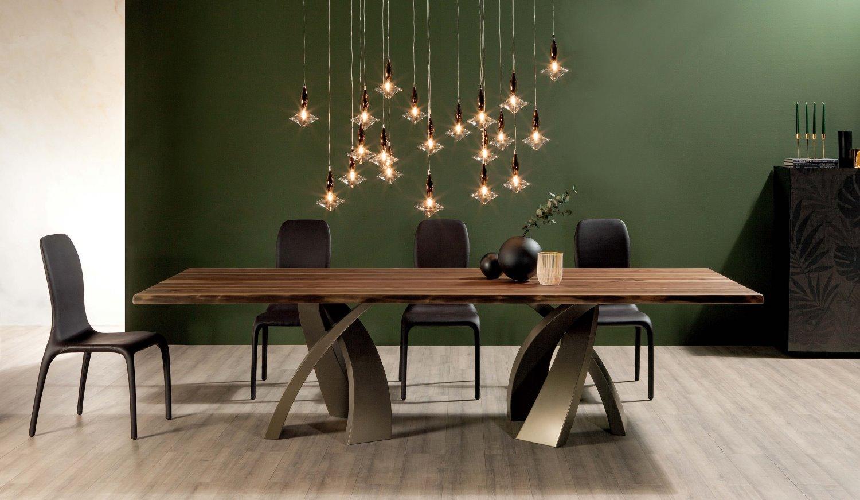 Tavolo con basamento tricolore eliseo arredaclick