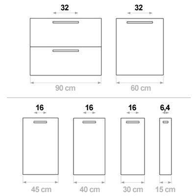 Cln030a colonna dispensa per cucina componibile arredaclick - Larghezza mobili cucina ...