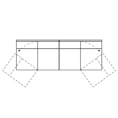 Divano letto componibile di design dennis arredaclick for Divano letto 4 posti lineare