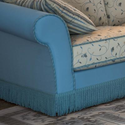 Canap classique en tissu avec frange astolfo arredaclick - Canape classique tissu ...