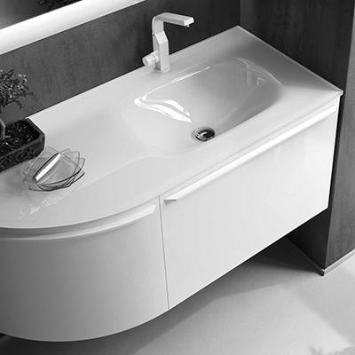 Lavabi Cristallo Per Bagno.Mobile Bagno Con Lavabo In Vetro N04 Atlantic Arredaclick
