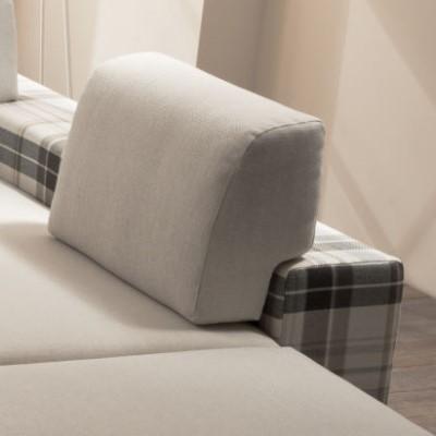 Divano letto con dormeuse in tessuto derek arredaclick - Schienale divano letto ...