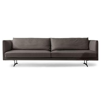 Divano lineare dal design essenziale jude diotti com - Cuscini schienale divano ...