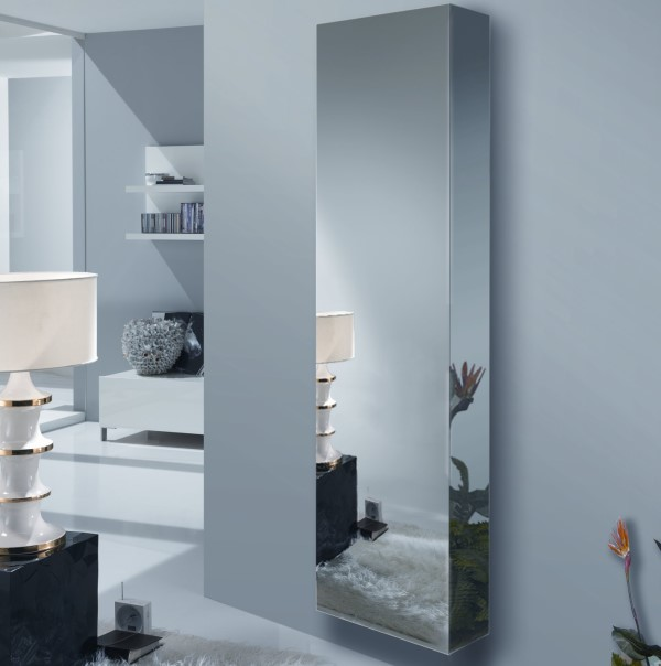 meuble d 39 entr e suspendu avec porte miroir wayne arredaclick. Black Bedroom Furniture Sets. Home Design Ideas