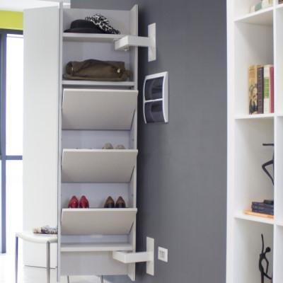 Meuble suspendu entree maison design - Miroir suspendu porte ...
