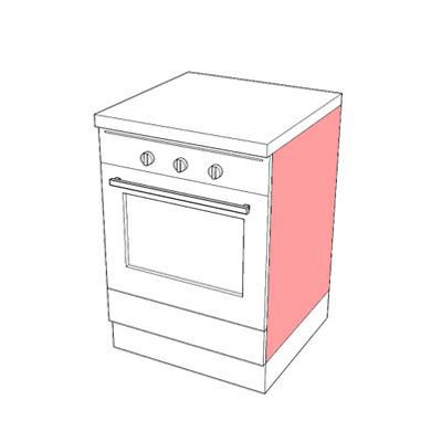 Bas060i base forno per cucina componibile arredaclick - Forno per cucina componibile ...