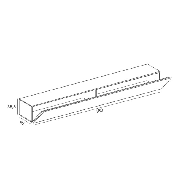 igea horizontaler h ngeschrank f r ihr wohnzimmer arredaclick. Black Bedroom Furniture Sets. Home Design Ideas