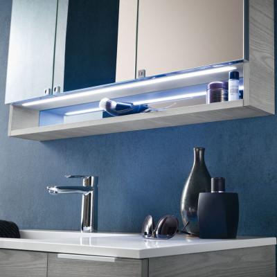 Specchio contenitore da bagno stocky arredaclick for Specchio bagno profilo alluminio