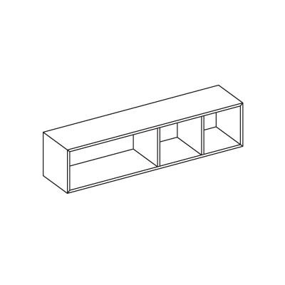 logic horizontaler offener h ngeschrank arredaclick. Black Bedroom Furniture Sets. Home Design Ideas
