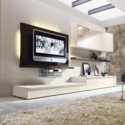 logic 530 wohnwand f r tv arredaclick. Black Bedroom Furniture Sets. Home Design Ideas