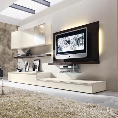 Parete attrezzata per tv con led logic 530 arredaclick for Arredo tv design
