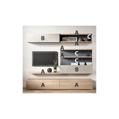 logic 591 moderne wohnwand aus holz arredaclick. Black Bedroom Furniture Sets. Home Design Ideas