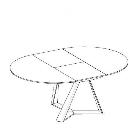 Tavolo Moderno Allungabile Bontempi.Tavolo Moderno In Legno Noce Millennium Diotti Com