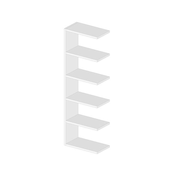 Clv Hp Laminato Base Colore : Libreria componibile bifacciale almond p arredaclick