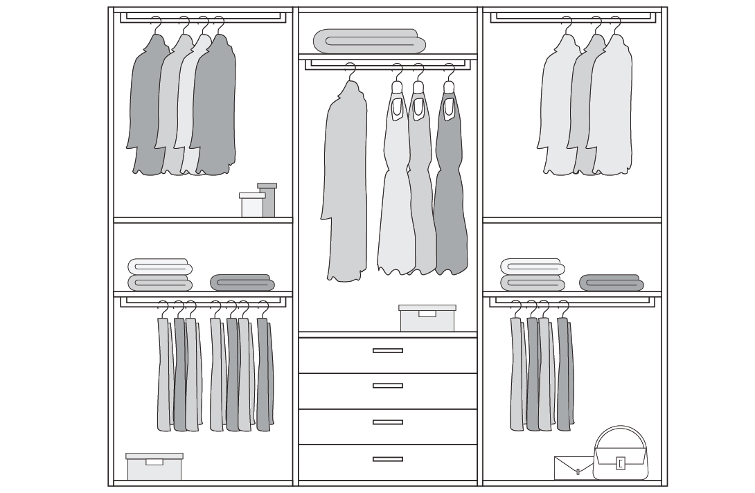 Configurazione ideale armadio per due